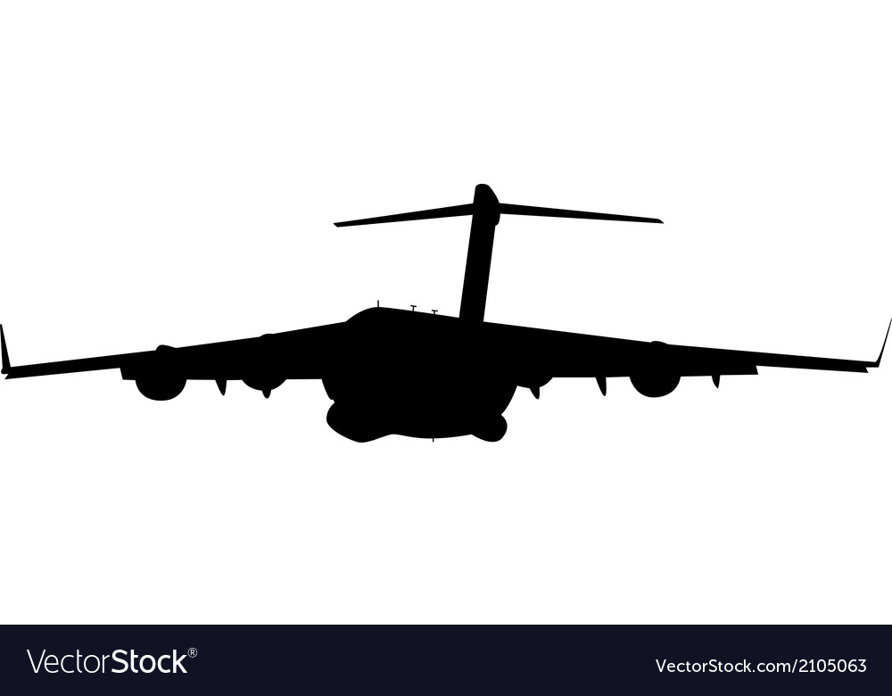 Airplane silhouettes black vector | Price: 1 Credit (USD $1)