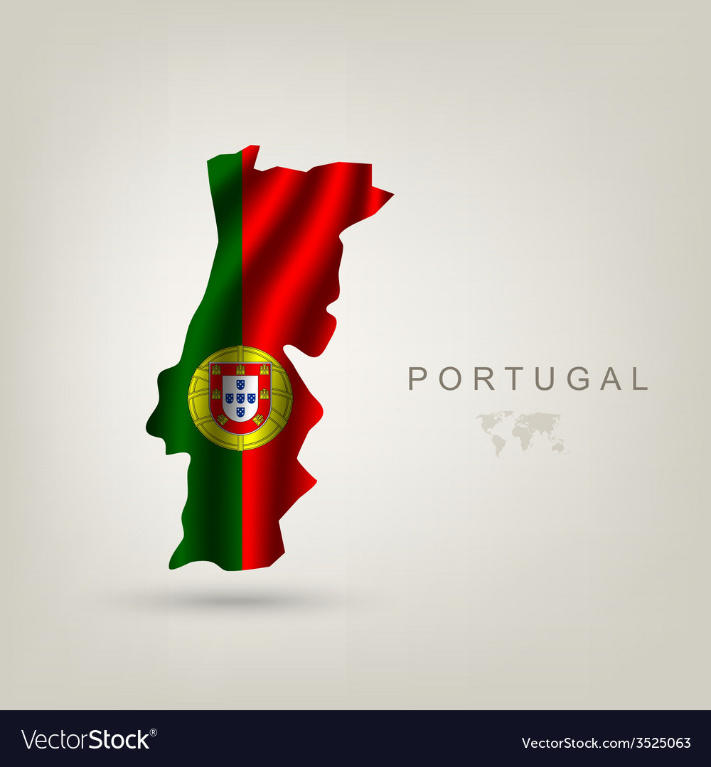 Flag of portugal as a country vector | Price: 1 Credit (USD $1)