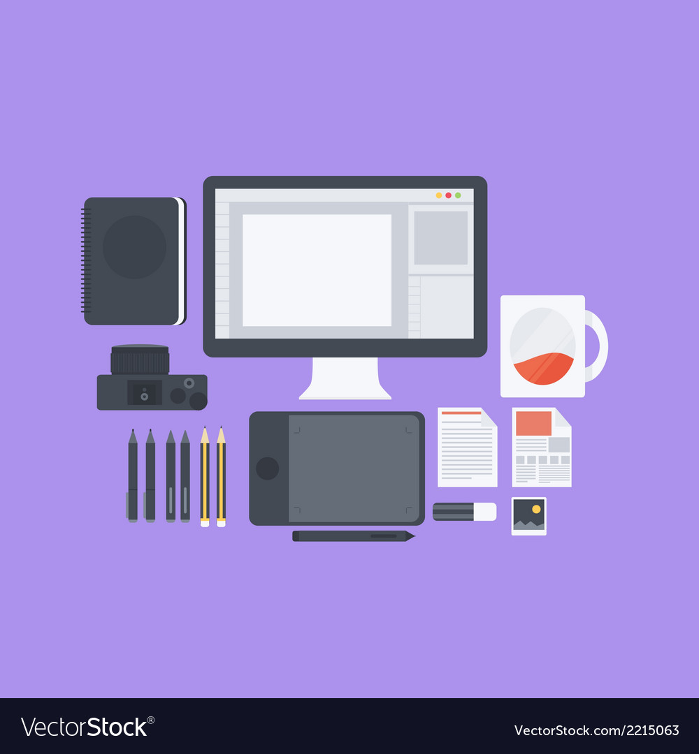 Flat design pack vector | Price: 1 Credit (USD $1)