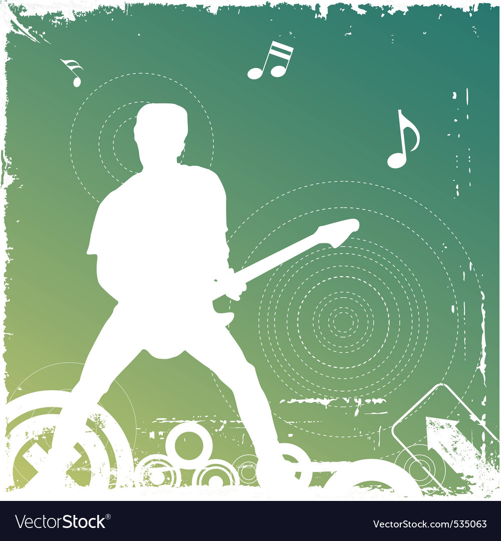 Guitarist vector | Price: 1 Credit (USD $1)