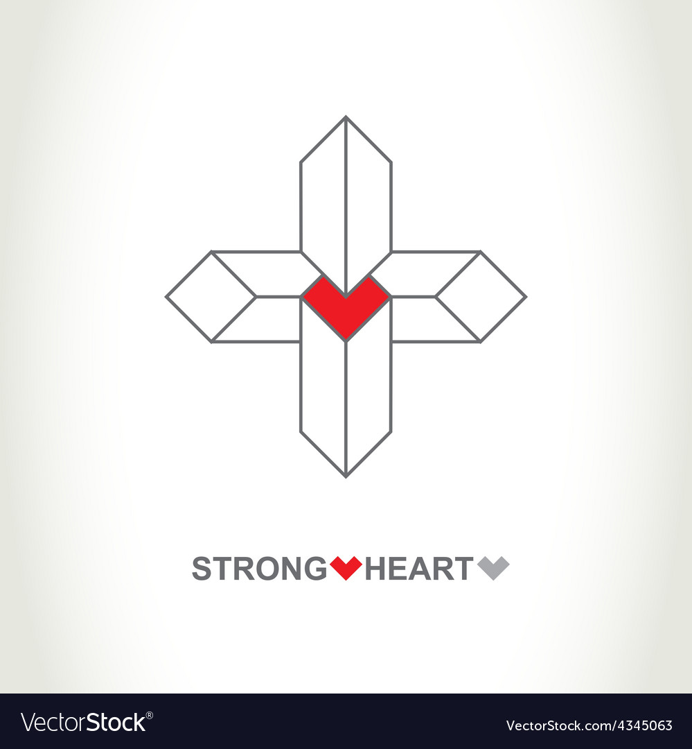 Heart protection system logo strong heart company vector | Price: 1 Credit (USD $1)
