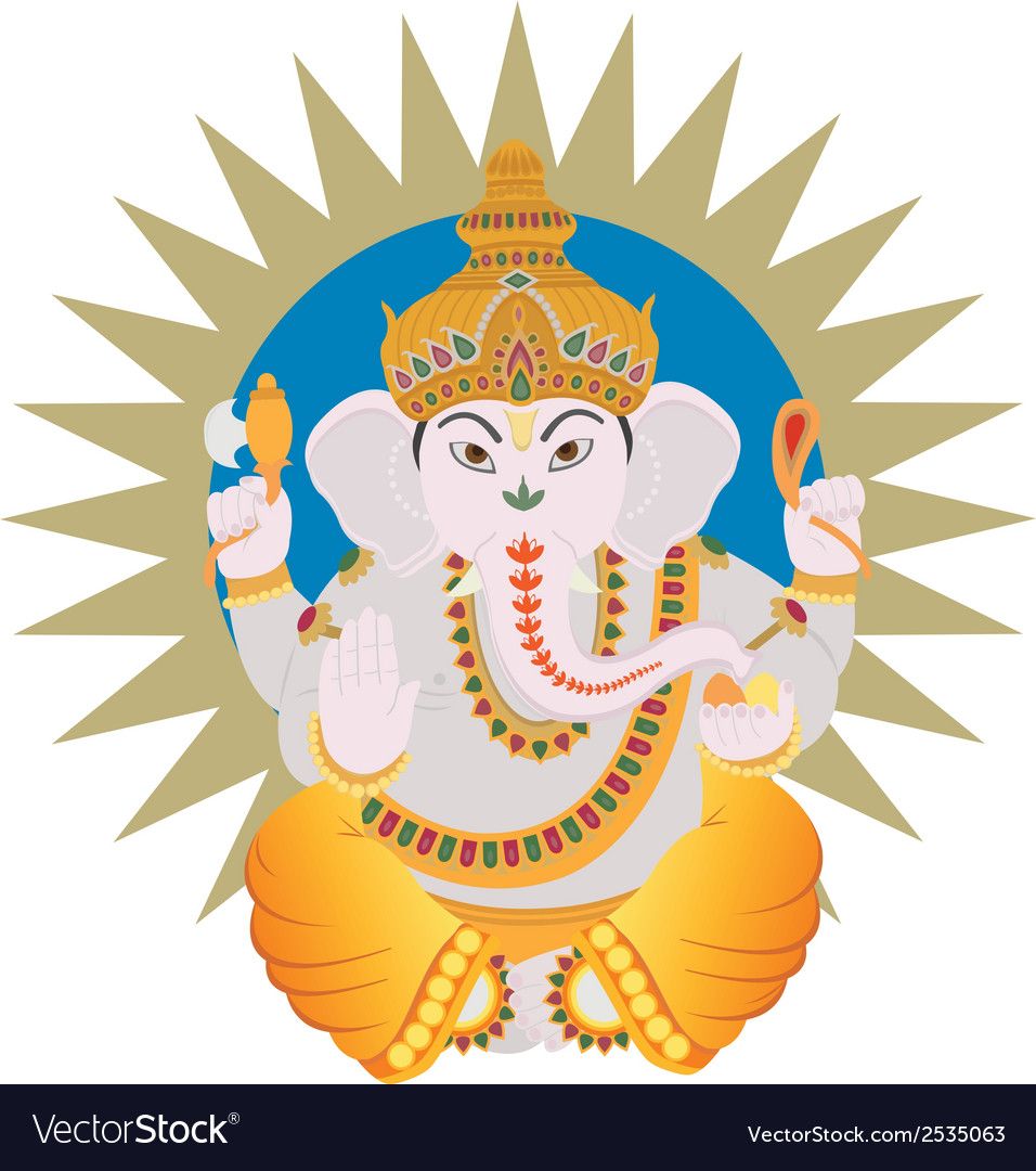 Hindu ganesh vector | Price: 1 Credit (USD $1)