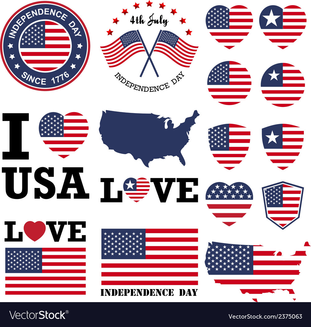 Independence day badge and label vector | Price: 1 Credit (USD $1)