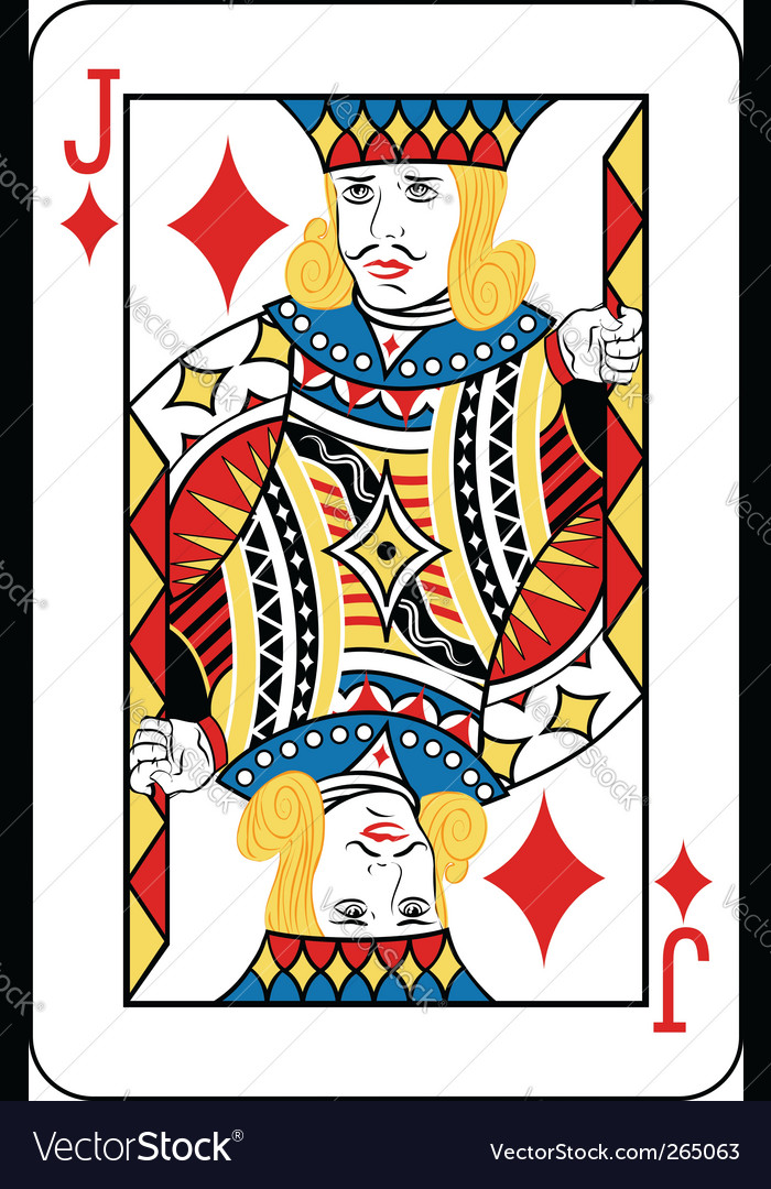 Jack of diamonds vector | Price: 3 Credit (USD $3)