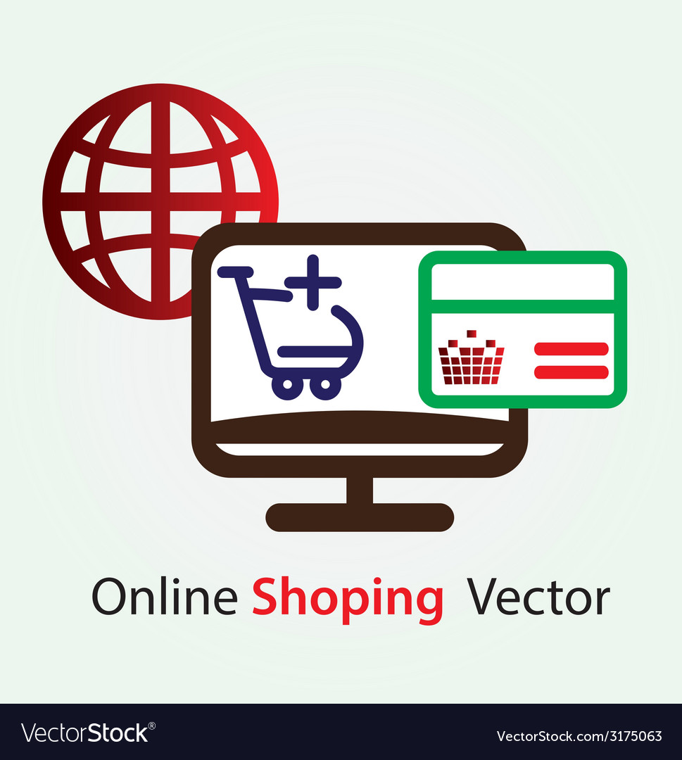 Online shopping icons vector | Price: 1 Credit (USD $1)