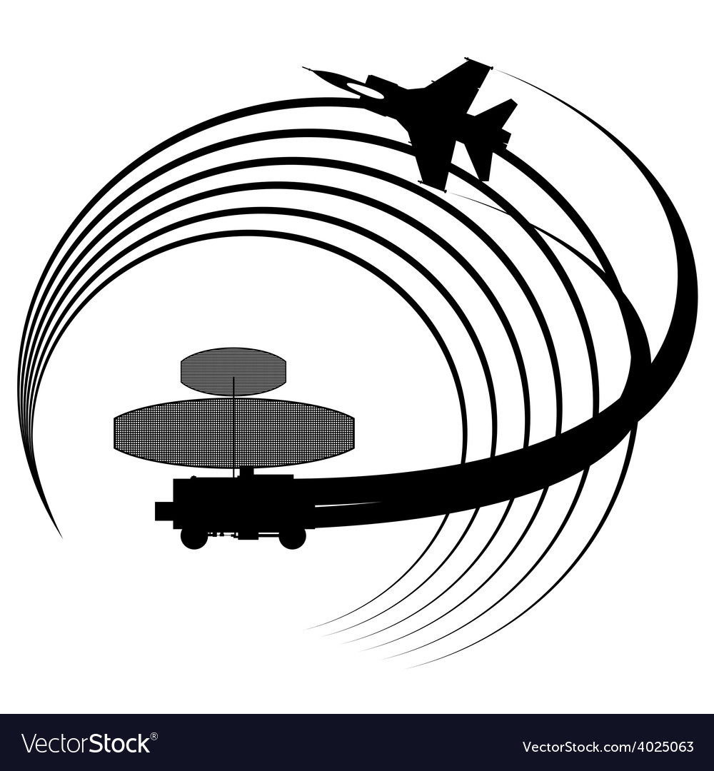 Radar station vector | Price: 1 Credit (USD $1)
