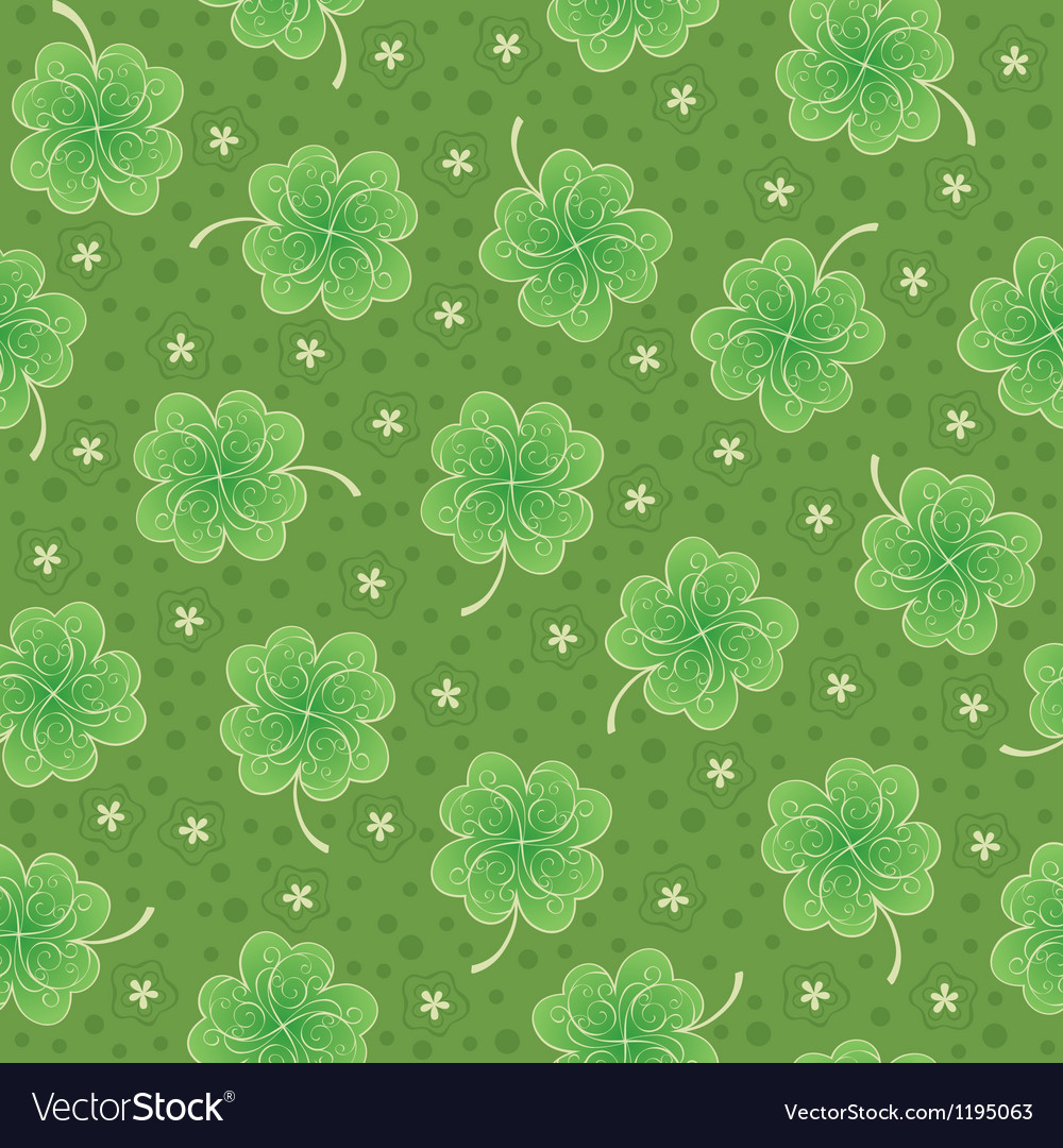 Seamless background with shamrock vector | Price: 1 Credit (USD $1)