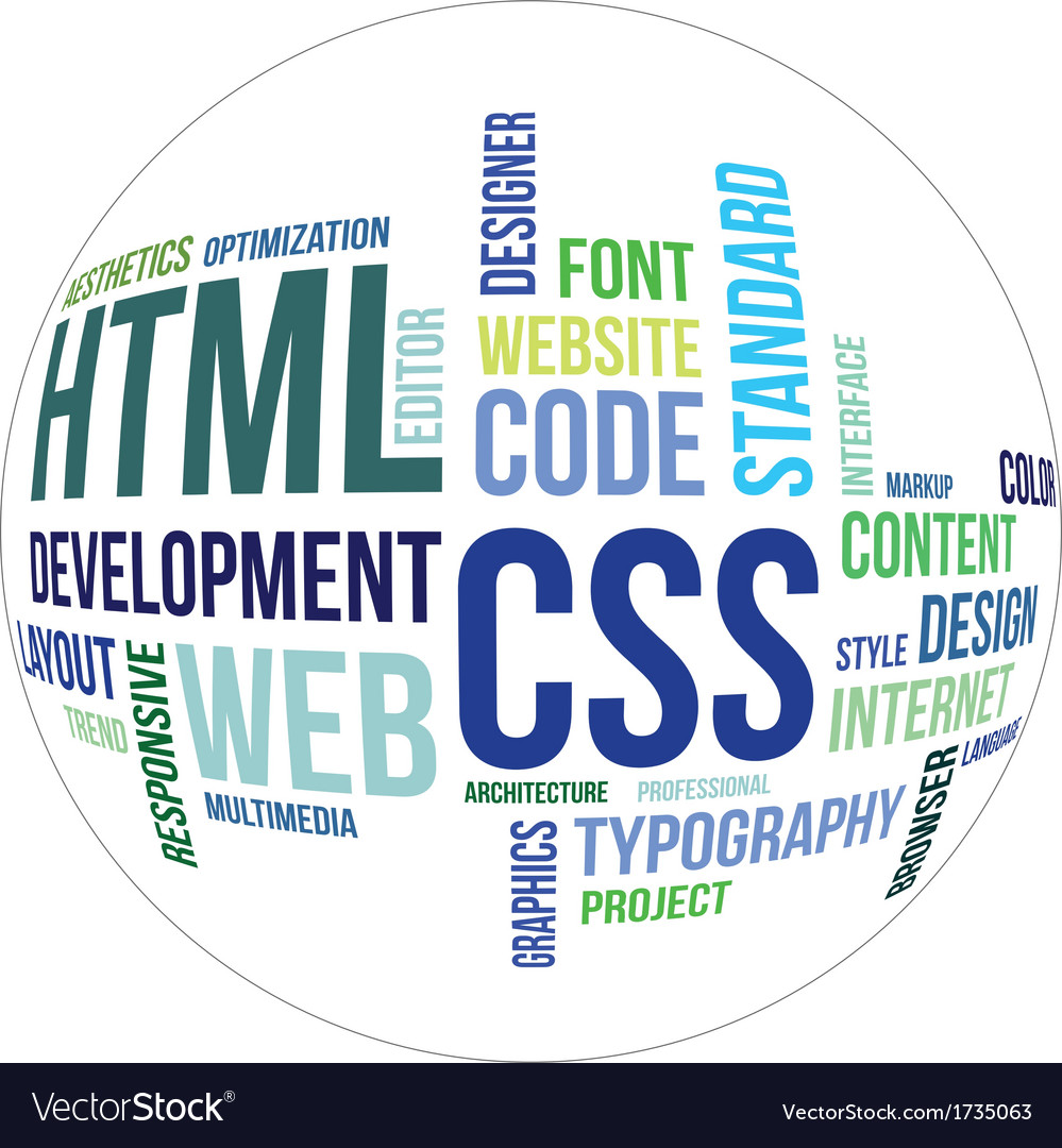 Word cloud html and css vector | Price: 1 Credit (USD $1)