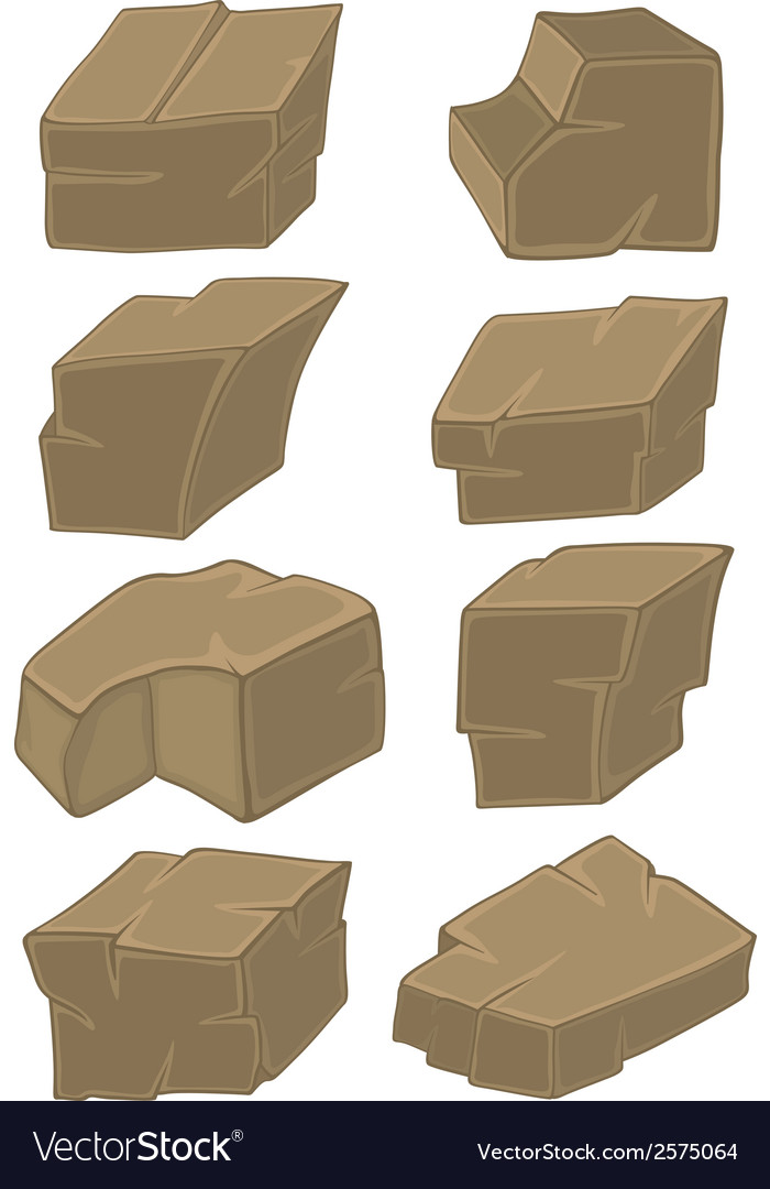A set of stones cartoon vector | Price: 1 Credit (USD $1)