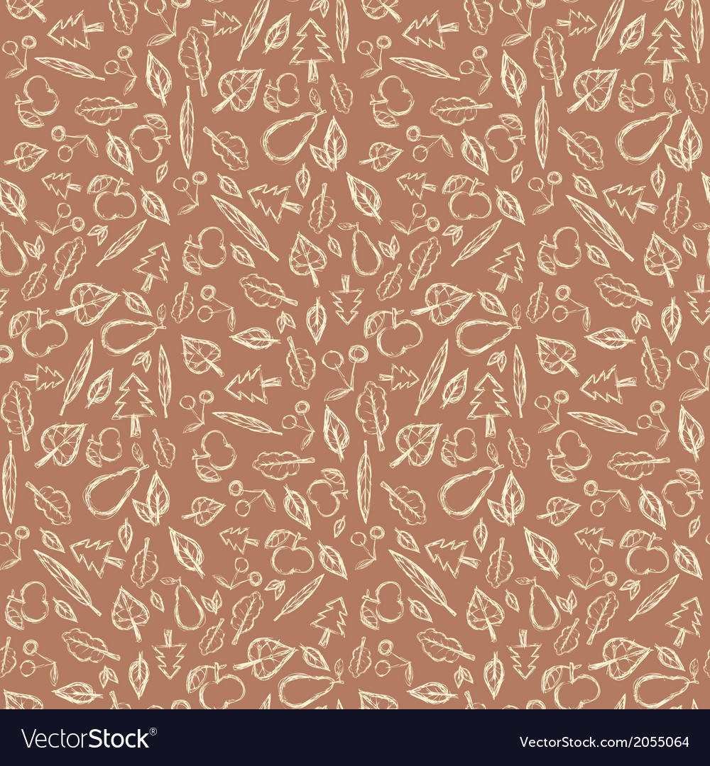 Abstract retro seamless pattern with fruit and vector | Price: 1 Credit (USD $1)