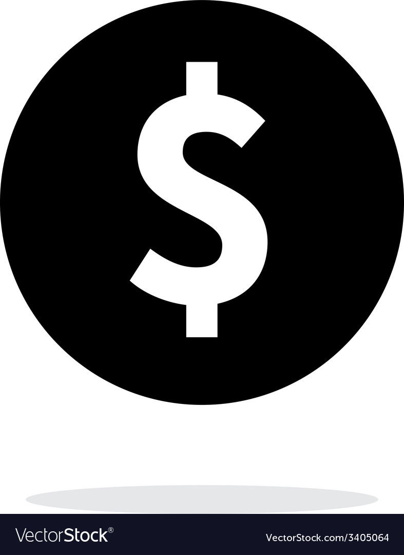 Coin with dollar sign simple icon on white vector | Price: 1 Credit (USD $1)