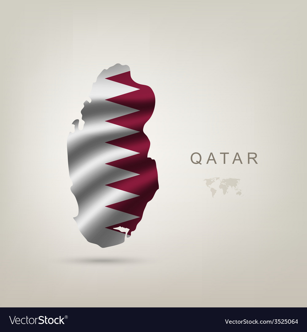 Flag of qatar as a country vector | Price: 1 Credit (USD $1)