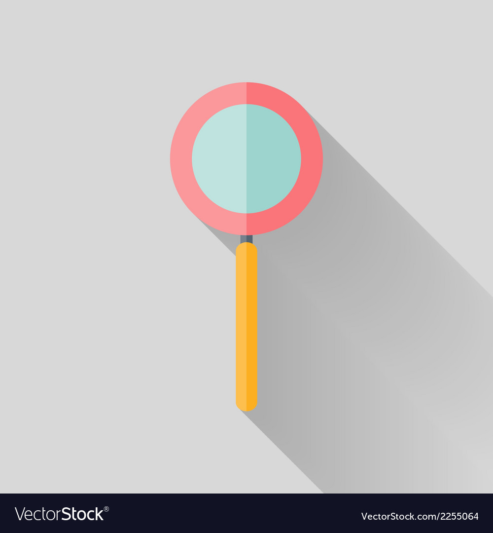 Flat loupe icon over grey vector | Price: 1 Credit (USD $1)