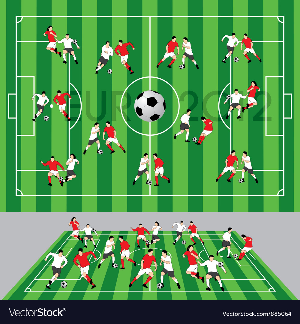 Football field vector | Price: 3 Credit (USD $3)