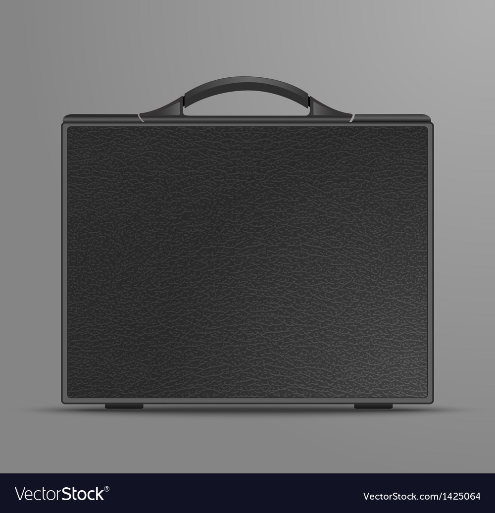 Leather black briefcase vector | Price: 1 Credit (USD $1)