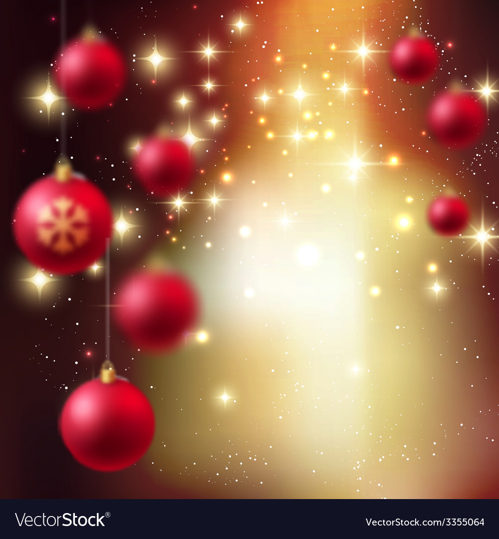 Merry christmas bauble greeting card vector | Price: 3 Credit (USD $3)