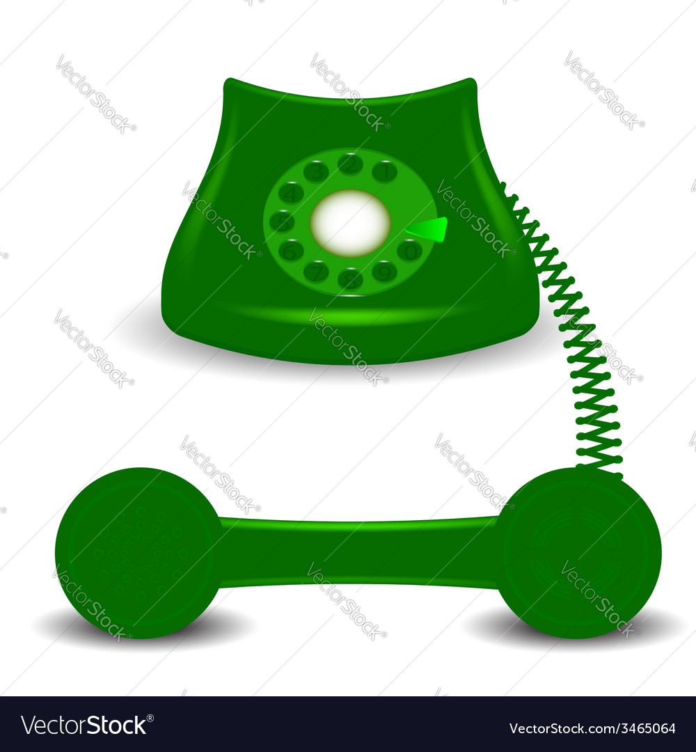 Old green phone vector | Price: 1 Credit (USD $1)