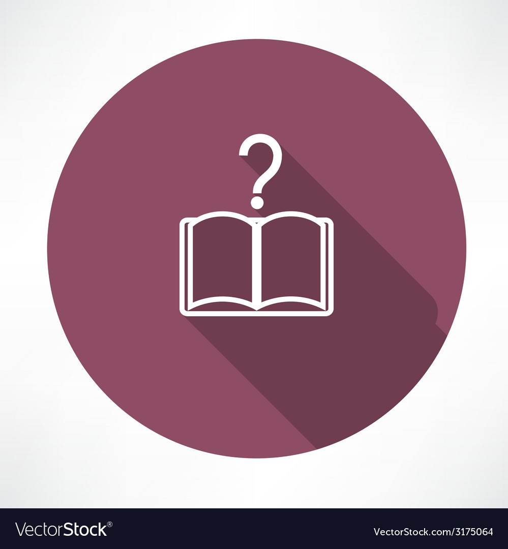 Questions book icon vector | Price: 1 Credit (USD $1)