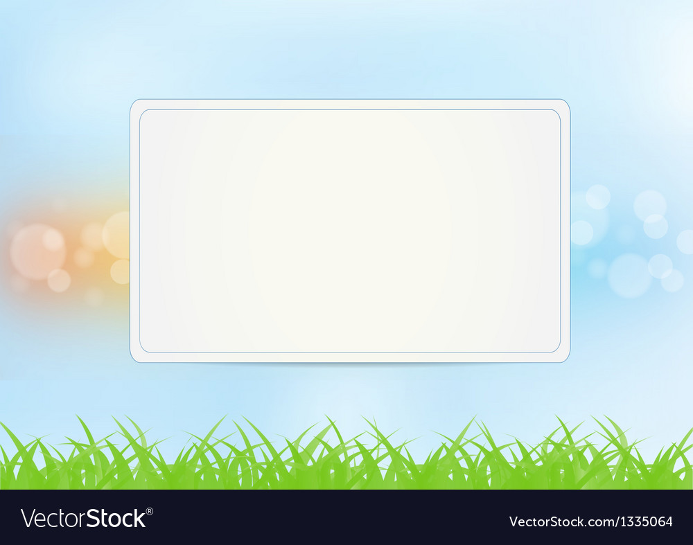 Sign on summer background vector | Price: 1 Credit (USD $1)