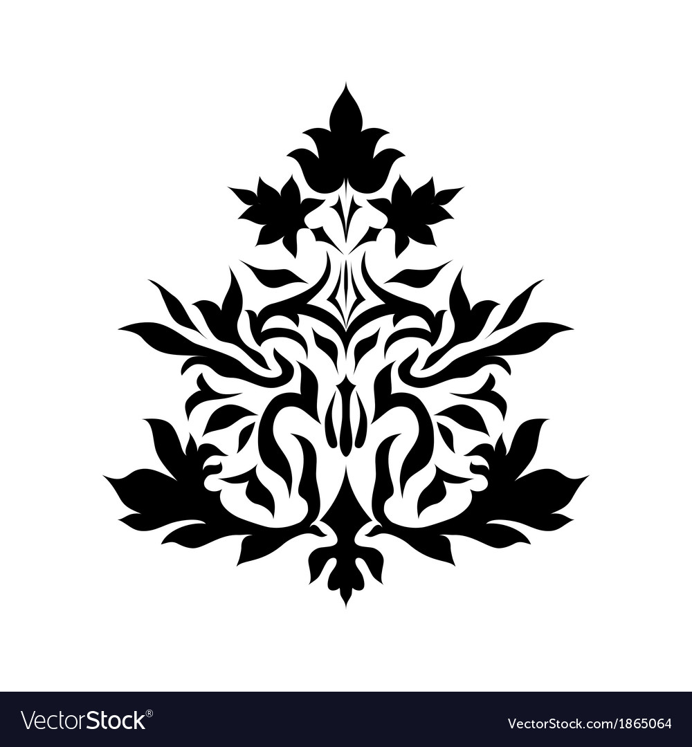 Vintage damask ornament background vector   Price: 1 Credit (USD $1)