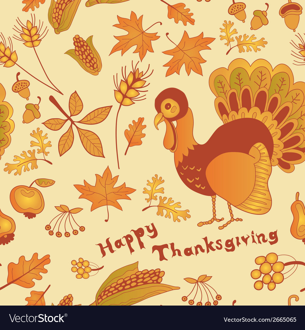 Autumn seamless for thanksgiving day vector | Price: 1 Credit (USD $1)
