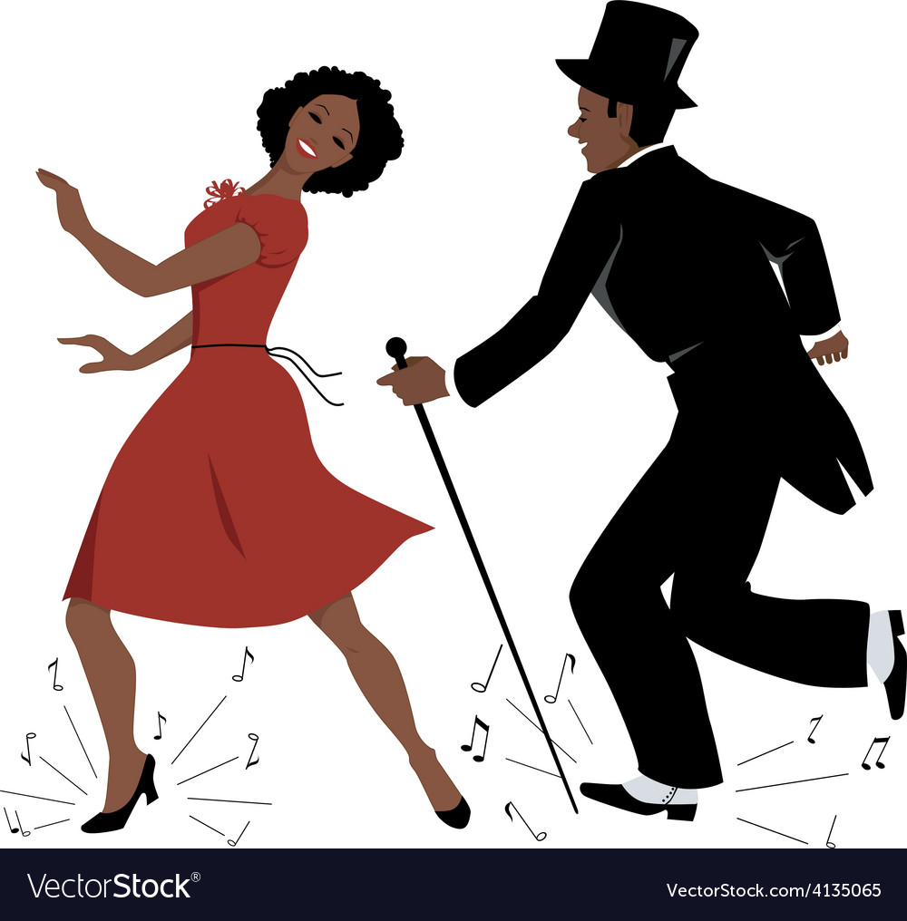 Black tap dance performers vector | Price: 1 Credit (USD $1)