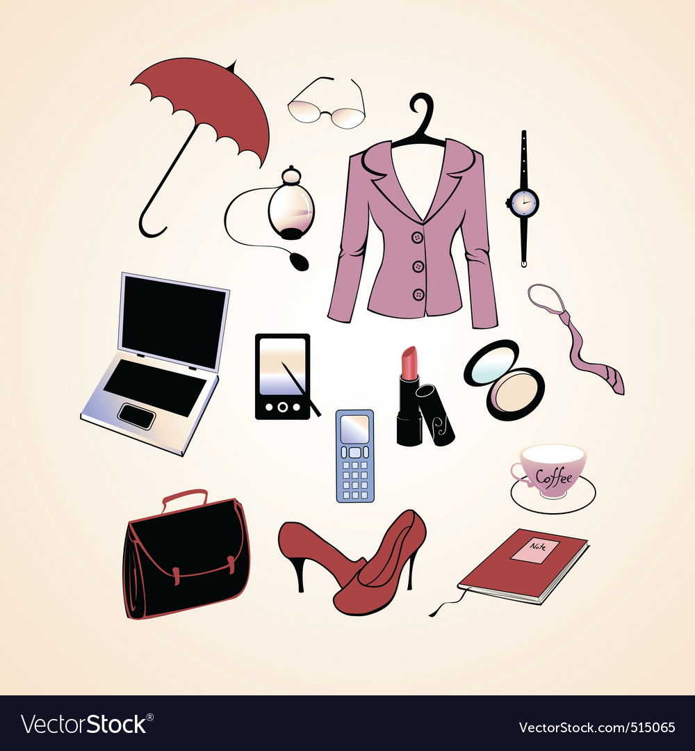Business woman lifestyle vector | Price: 1 Credit (USD $1)