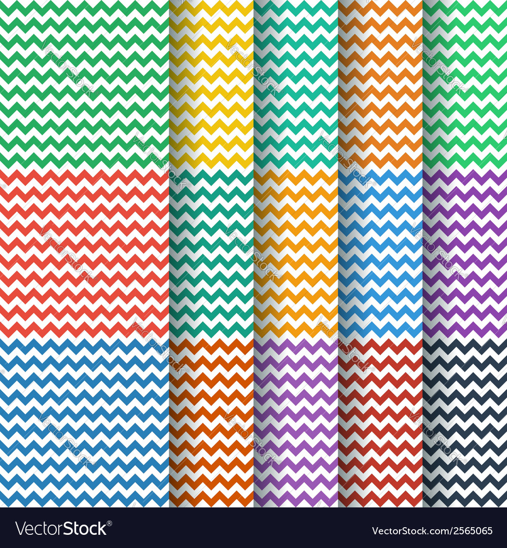 Chevron seamless pattern collection vector | Price: 1 Credit (USD $1)