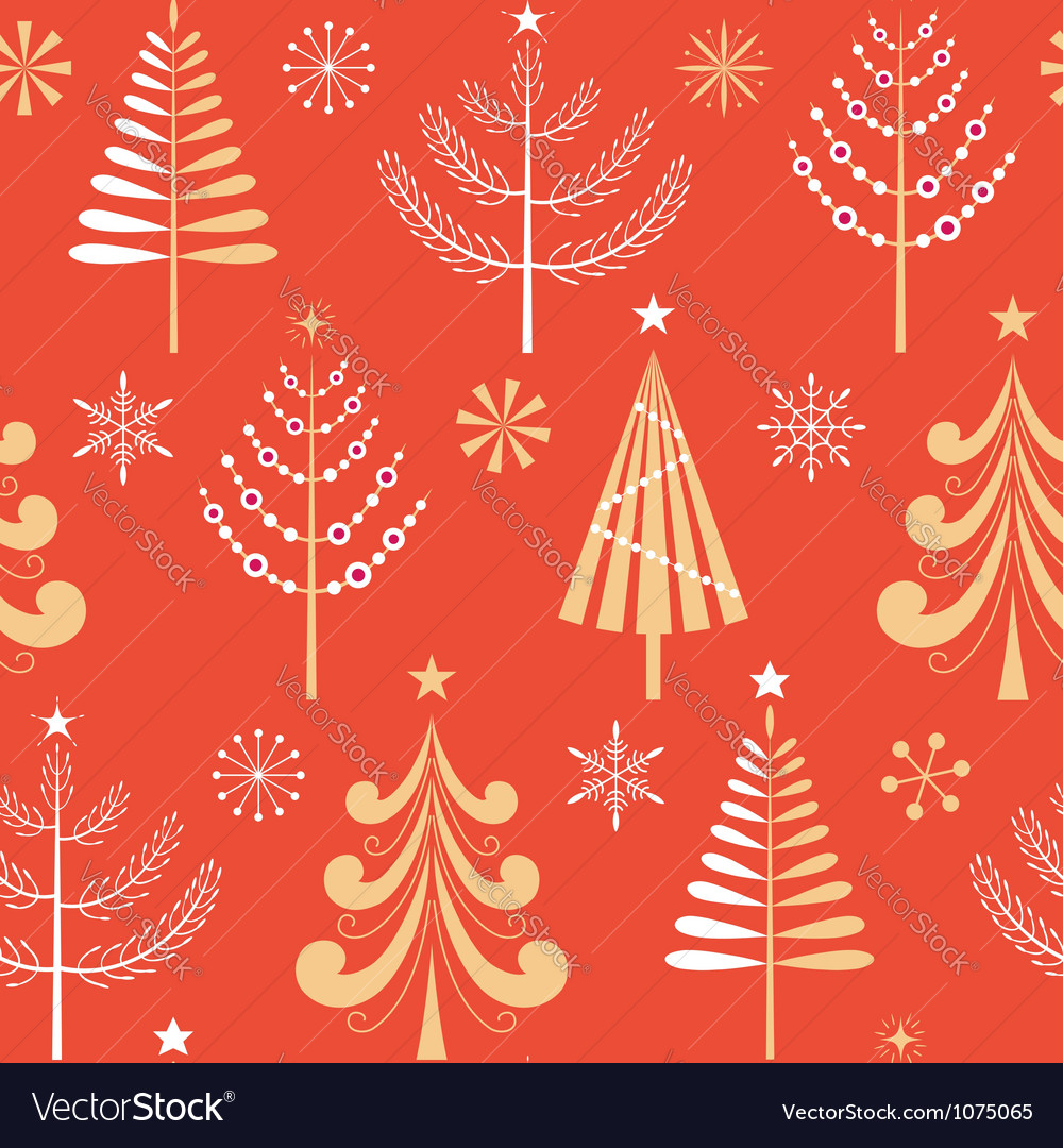 Christmas tree pattern vector | Price: 1 Credit (USD $1)