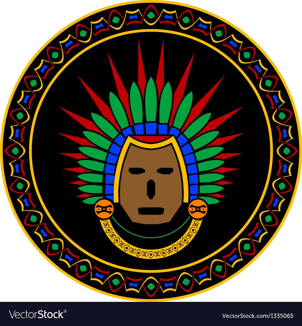 Mayan mask vector | Price: 1 Credit (USD $1)