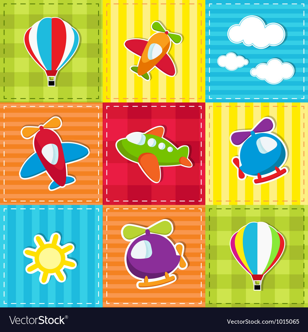 Patchwork with air transport vector | Price: 1 Credit (USD $1)