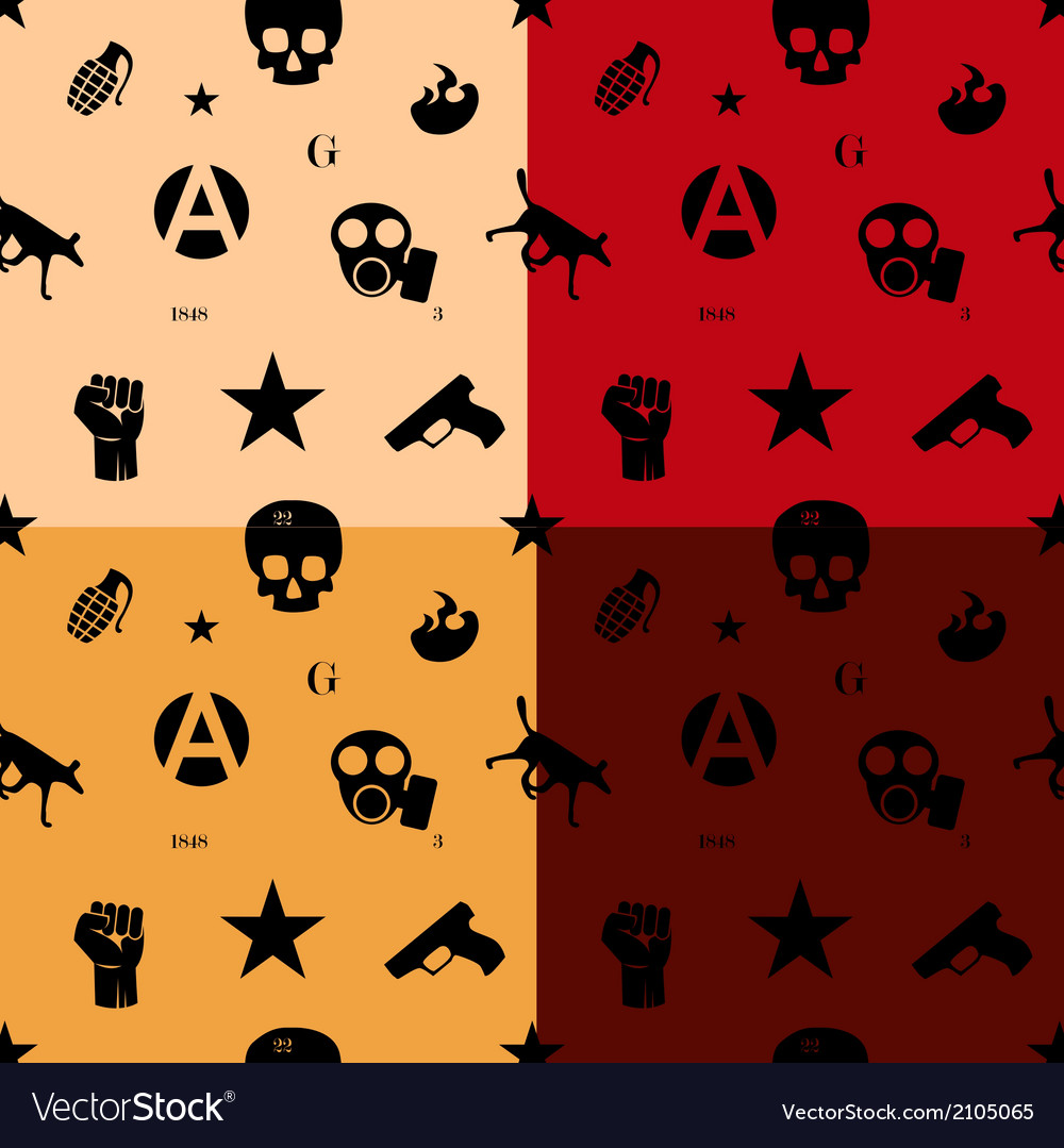 Protest seamless pattern in colors vector | Price: 1 Credit (USD $1)
