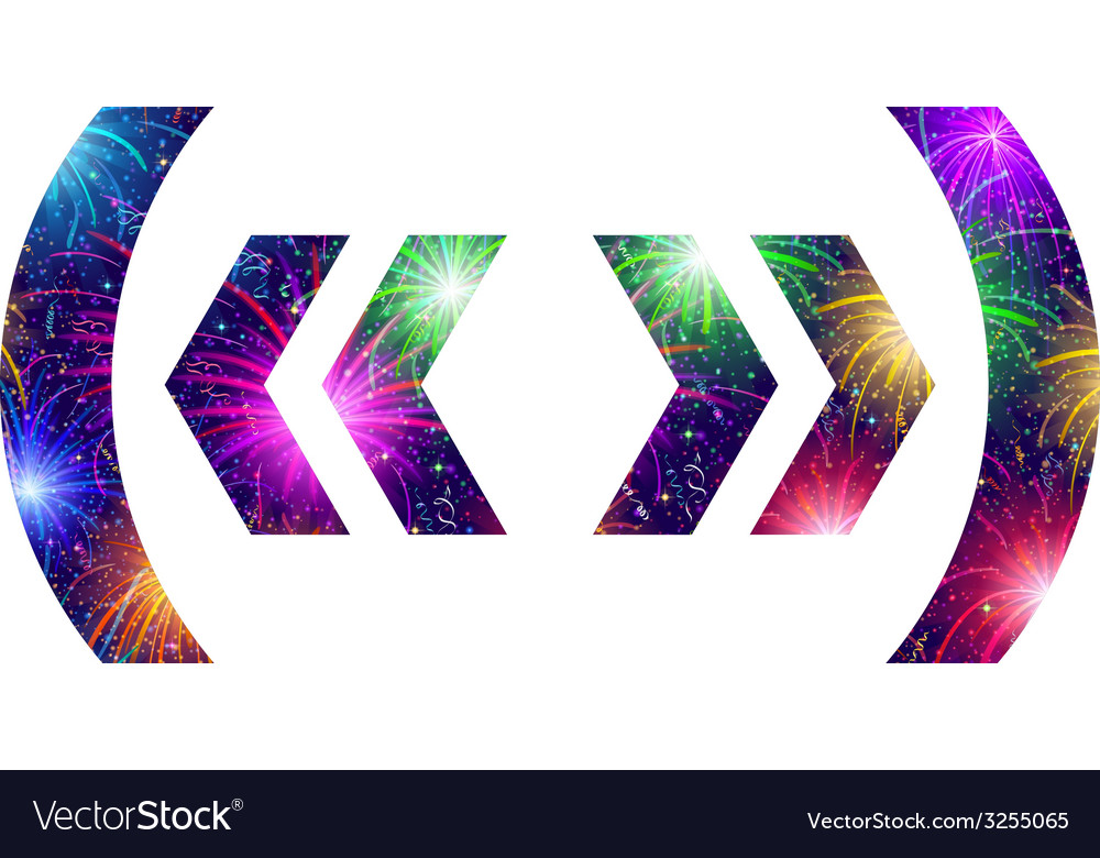 Set of punctuation signs firework vector   Price: 1 Credit (USD $1)