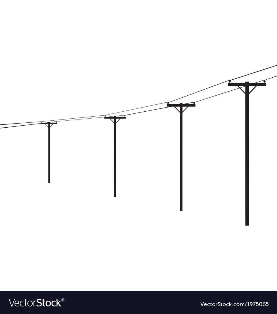 Telegraph poles vector | Price: 1 Credit (USD $1)