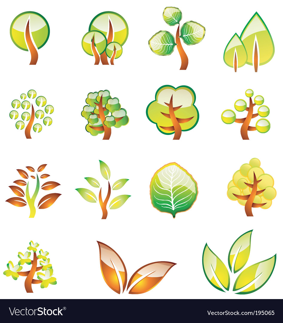 Tree icons vector | Price: 3 Credit (USD $3)
