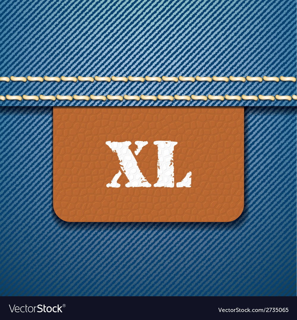 Xl size clothing label - vector | Price: 1 Credit (USD $1)