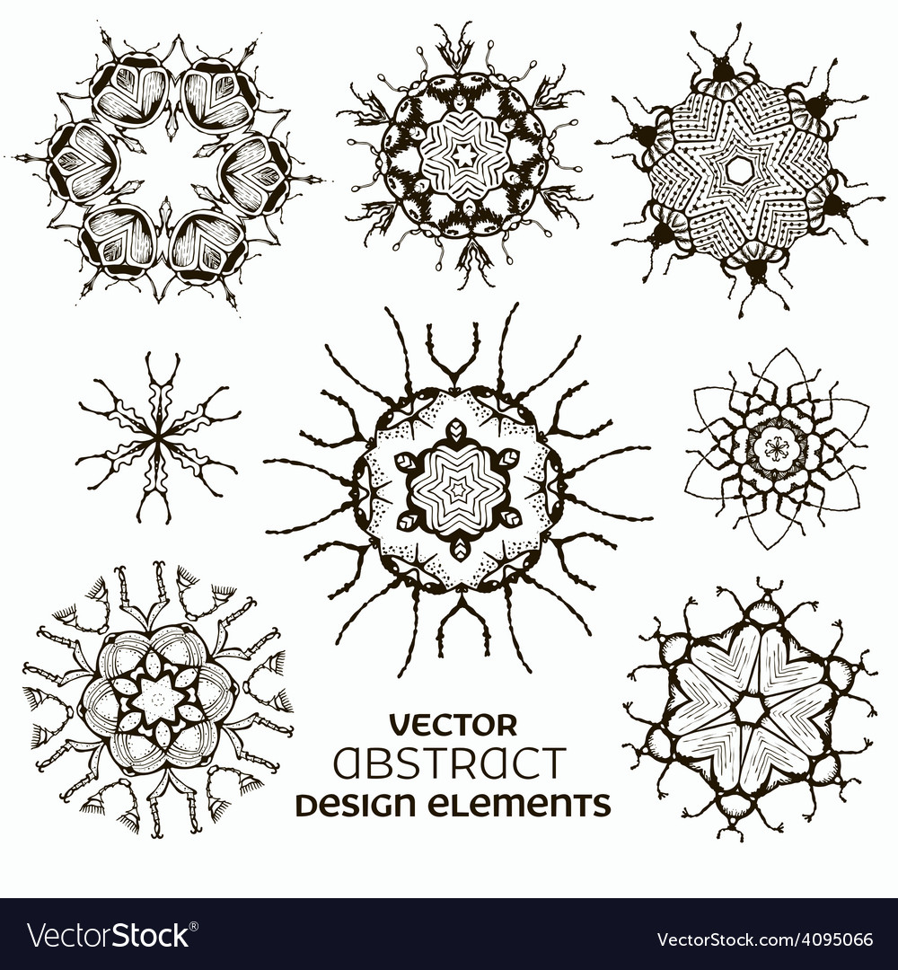 Abstract design elements set vector | Price: 1 Credit (USD $1)