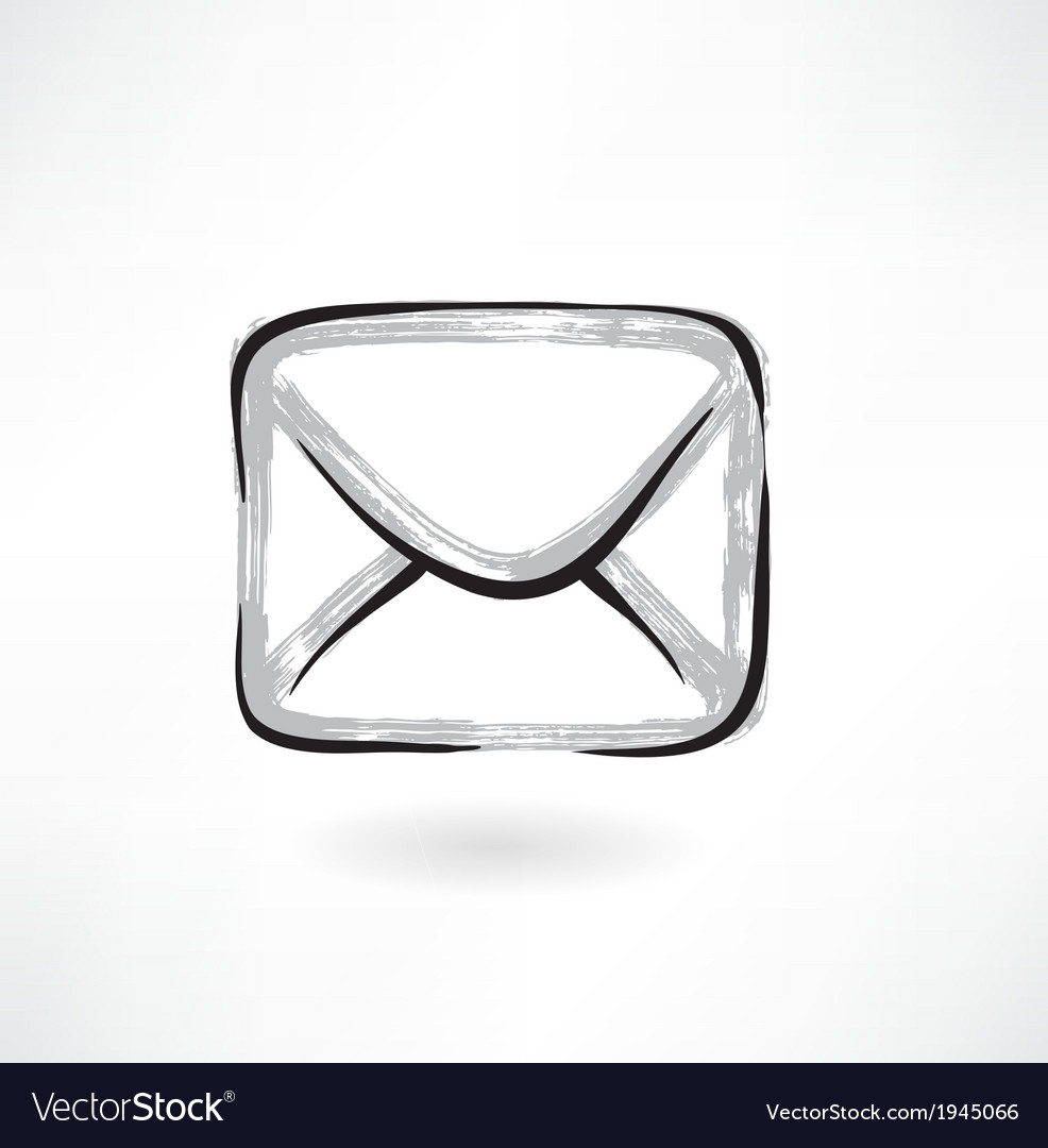 Envelope grunge icon vector | Price: 1 Credit (USD $1)