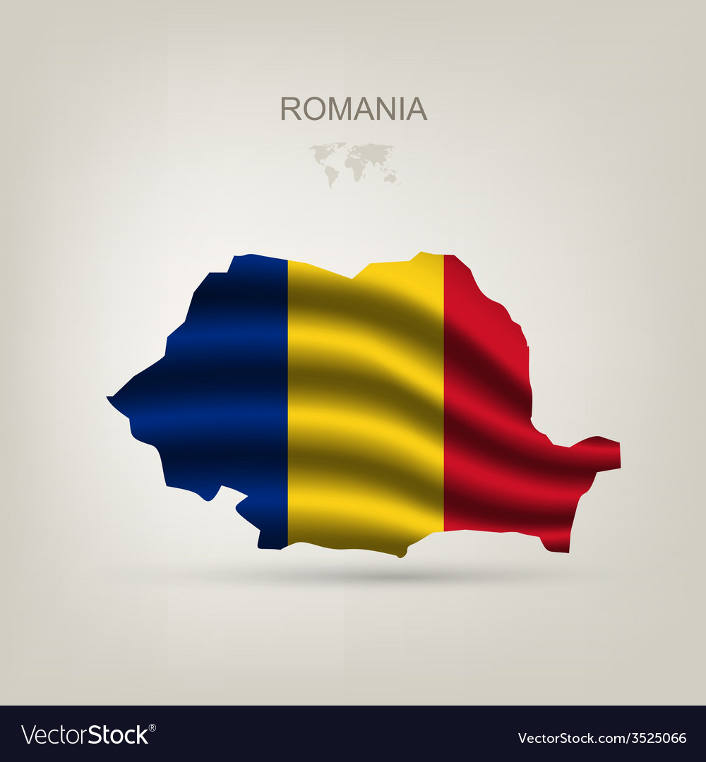 Flag of romania as a country vector | Price: 1 Credit (USD $1)