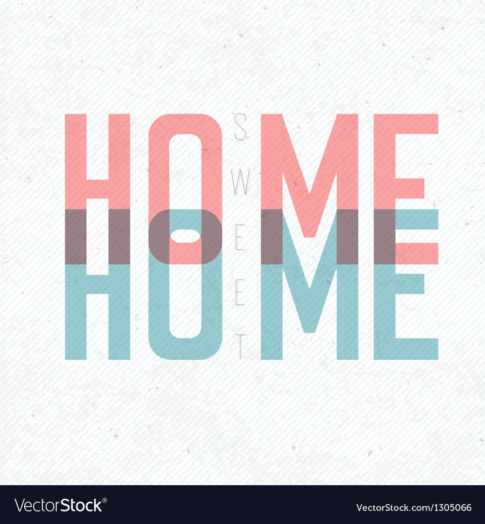 Home sweet home retro card vector | Price: 1 Credit (USD $1)