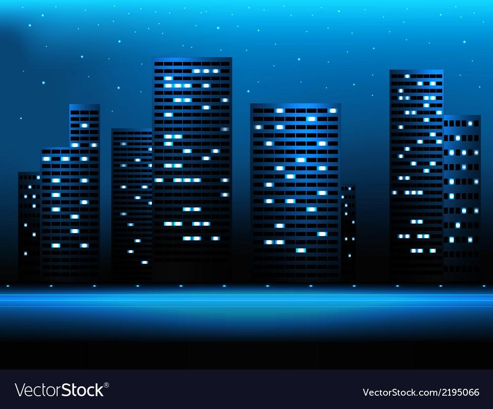 Night city landscape vector | Price: 1 Credit (USD $1)