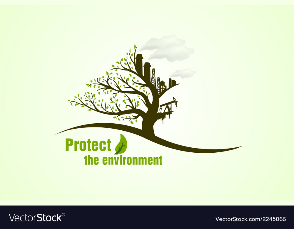 Protect the environment vector | Price: 1 Credit (USD $1)