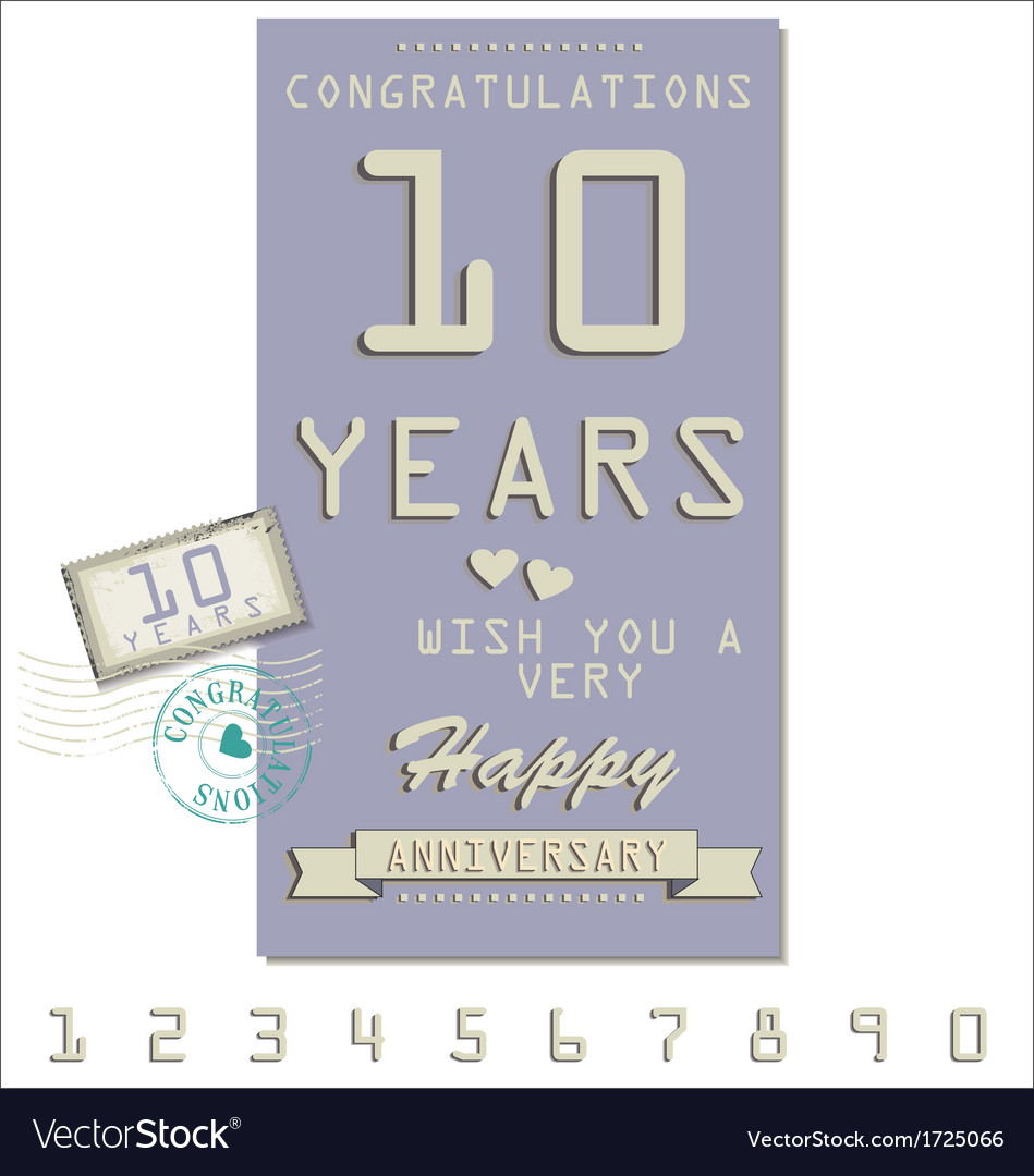 Template of anniversary jubilee or birthday card vector | Price: 1 Credit (USD $1)