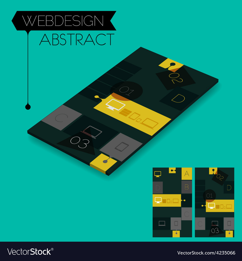 Three dimensional isometric concept with vector | Price: 1 Credit (USD $1)