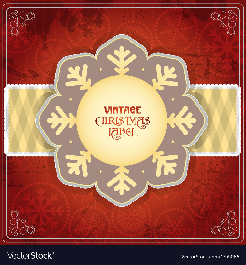 Vintage chrismas card vector | Price: 1 Credit (USD $1)