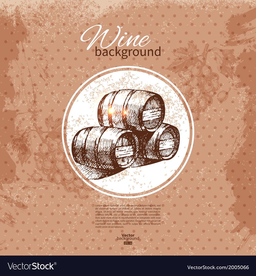 Wine vintage background vector | Price: 1 Credit (USD $1)