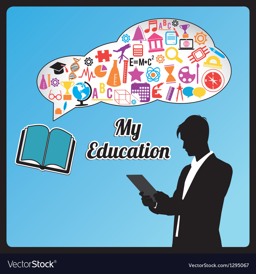 Abstract concept of education vector | Price: 1 Credit (USD $1)