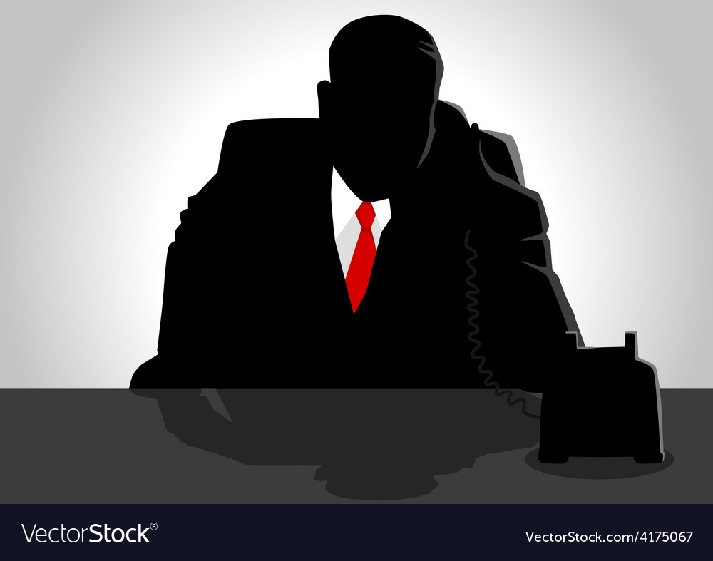 Boss on the phone vector | Price: 1 Credit (USD $1)