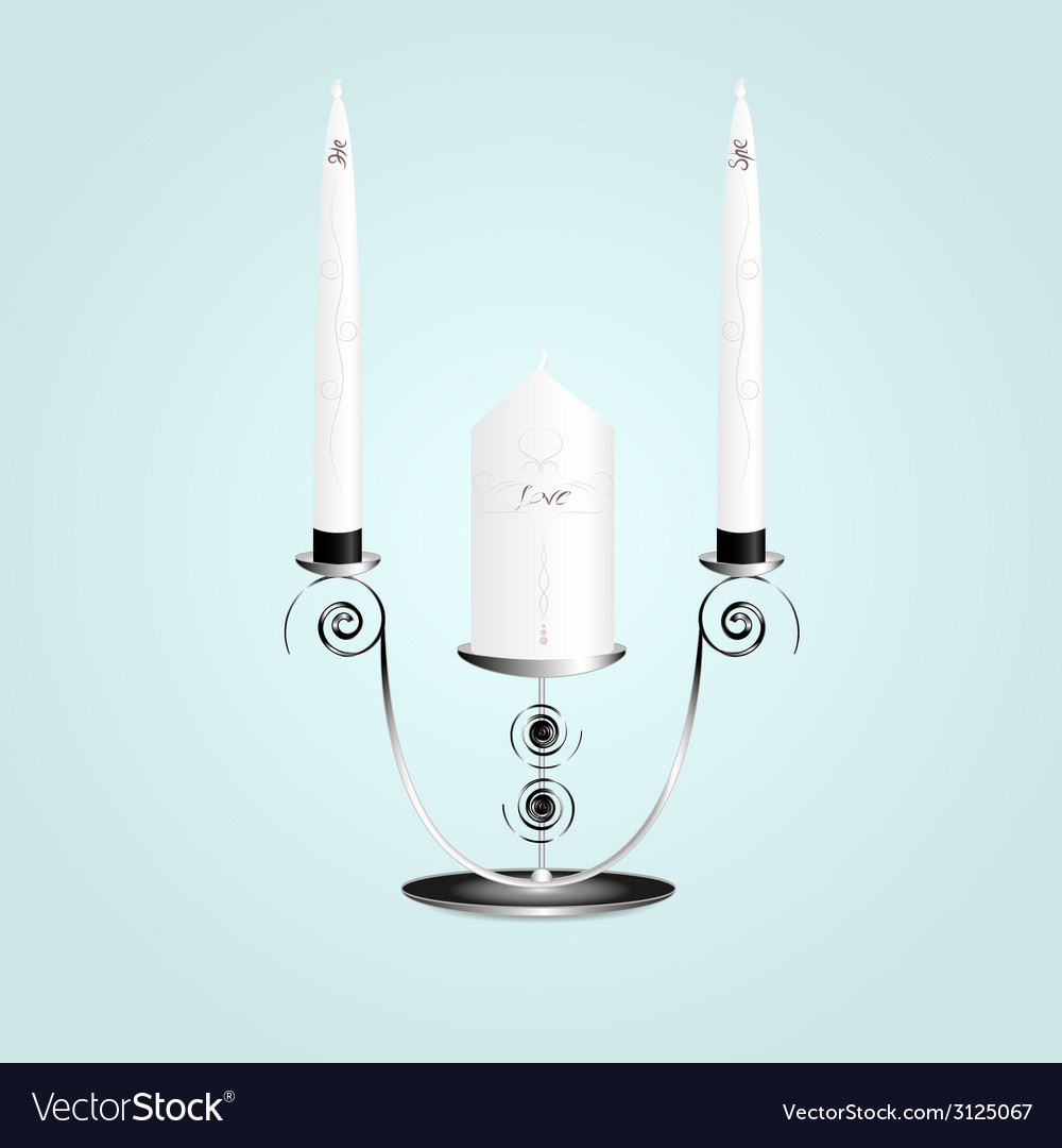 Candle in a candlestick vector | Price: 1 Credit (USD $1)