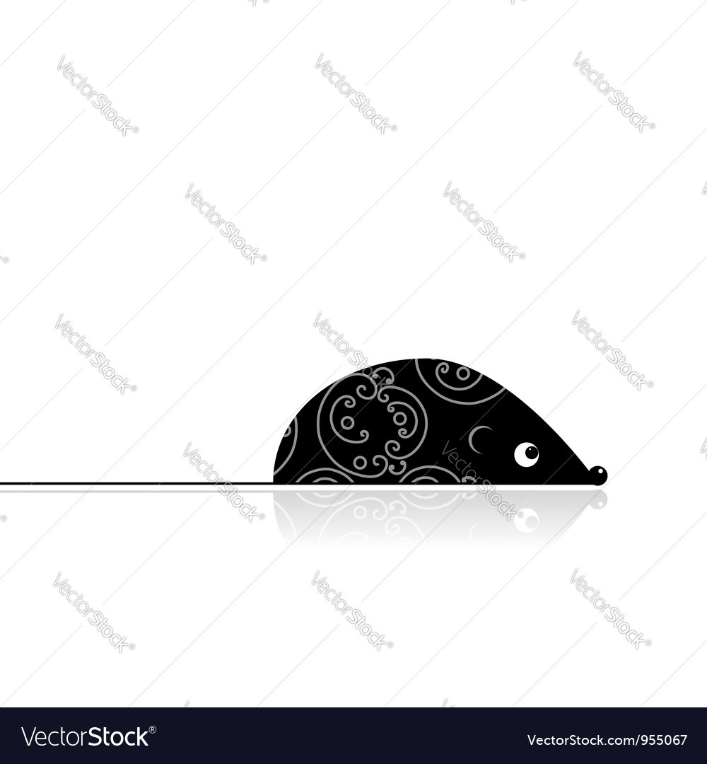 Computer mouse black for your design vector | Price: 1 Credit (USD $1)